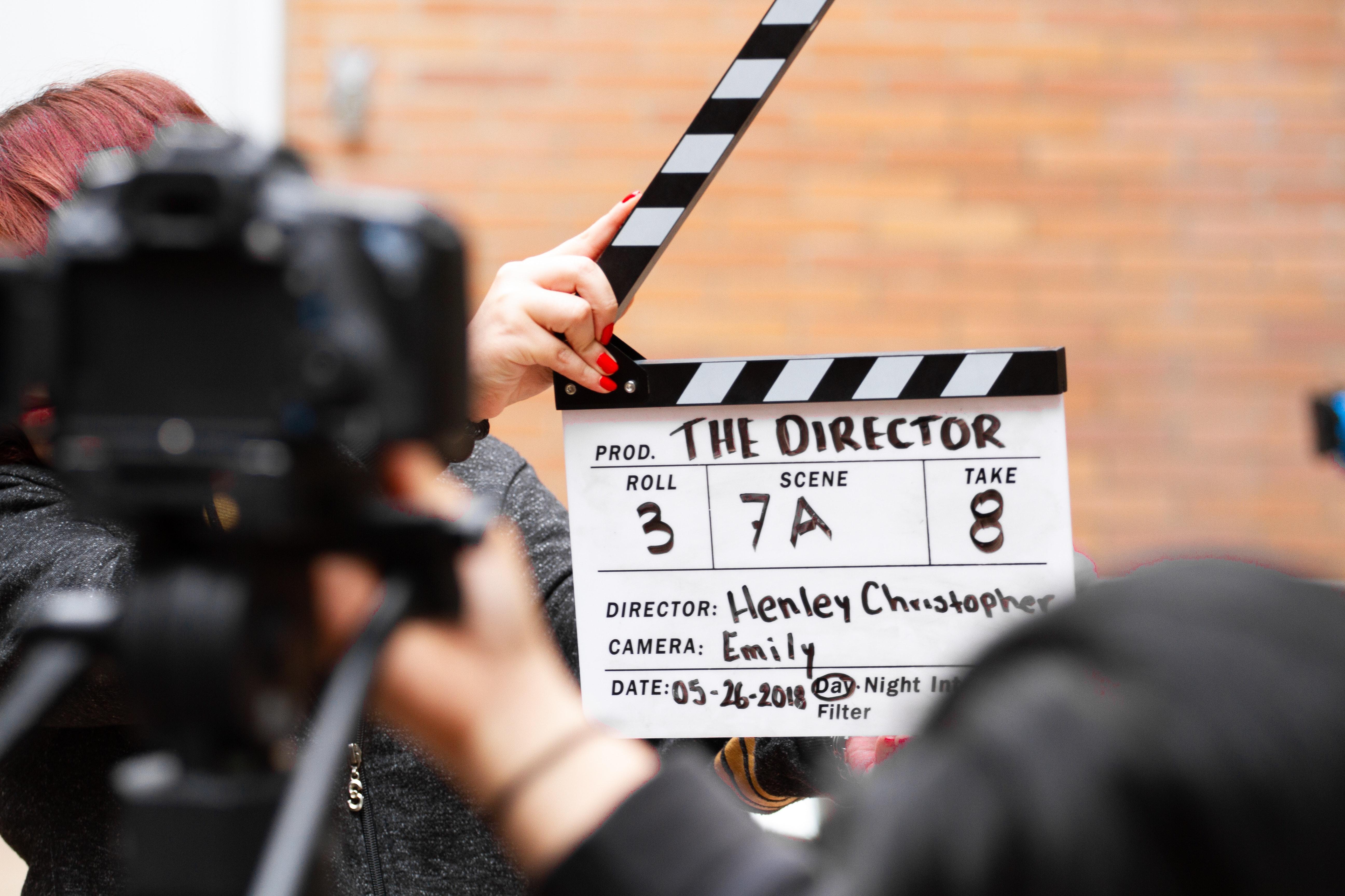 Action clapper film director 1117132