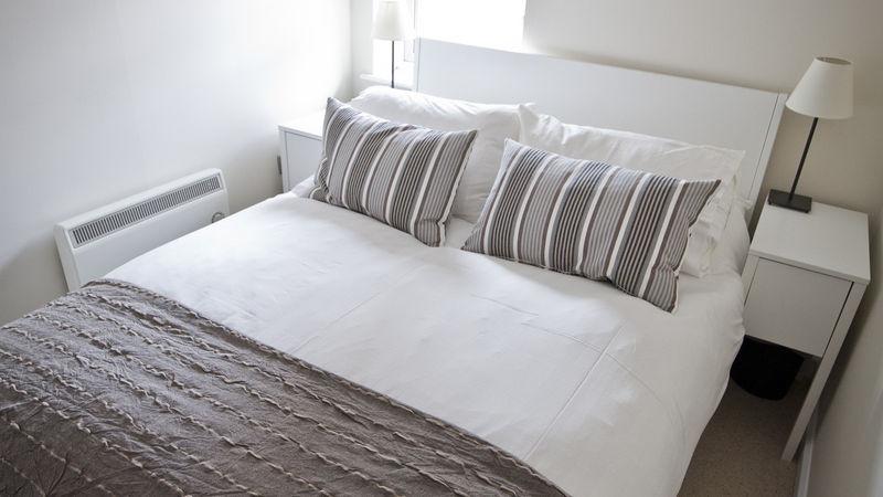 Medium crop guest bedroom