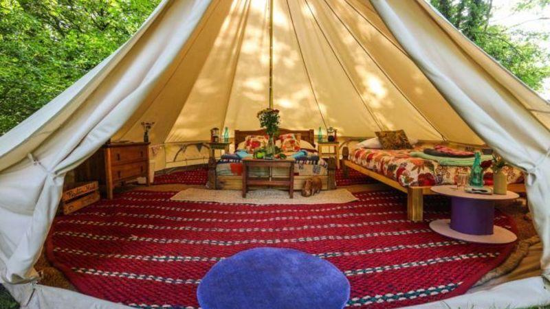 Luxury Bell Tents. Medium crop bell. Medium crop b0e7517127adbf054e0073cac3733923 f394 & Book a Room - Cloud 9 Village