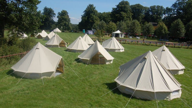 Medium crop hotel bell tent hazelstock 1 & Cloud 9 Village - Festival Lodging