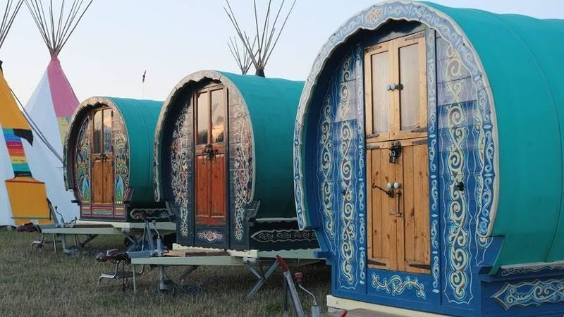 Medium crop gypsy caravan