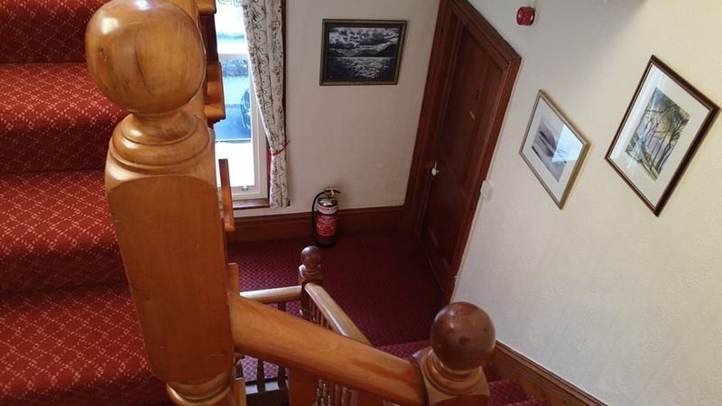 Medium crop stair case floor 2 to 1. goodwin house  bed   breakfast accomodation  keswick  cumbria  lake  district  united kingdom.