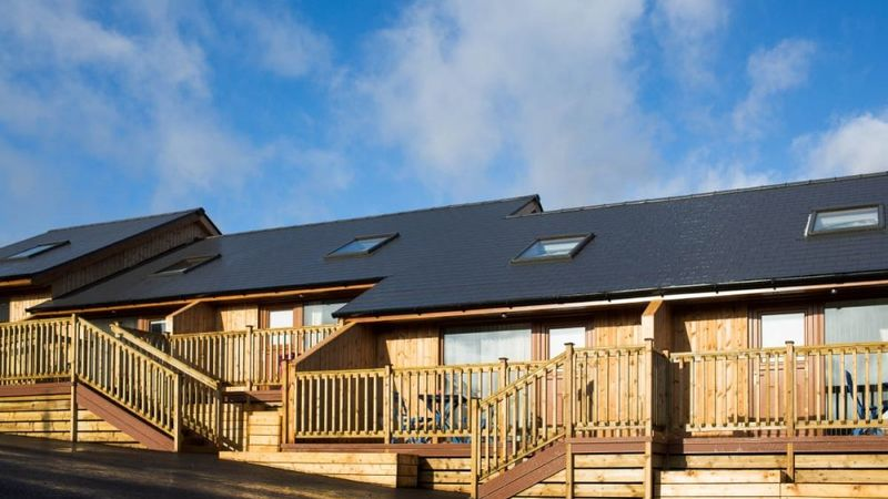 Medium crop luxury lodges at battlesteads