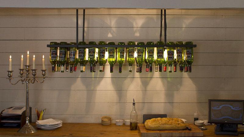 Medium crop wine bottles