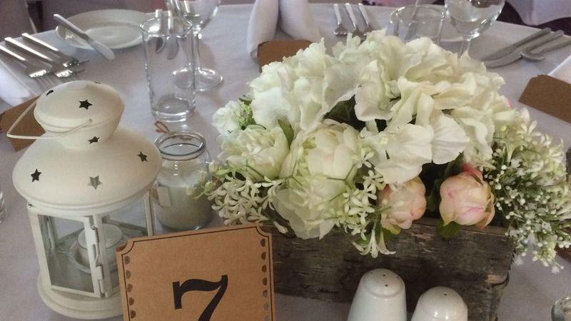 Medium crop wedding set up