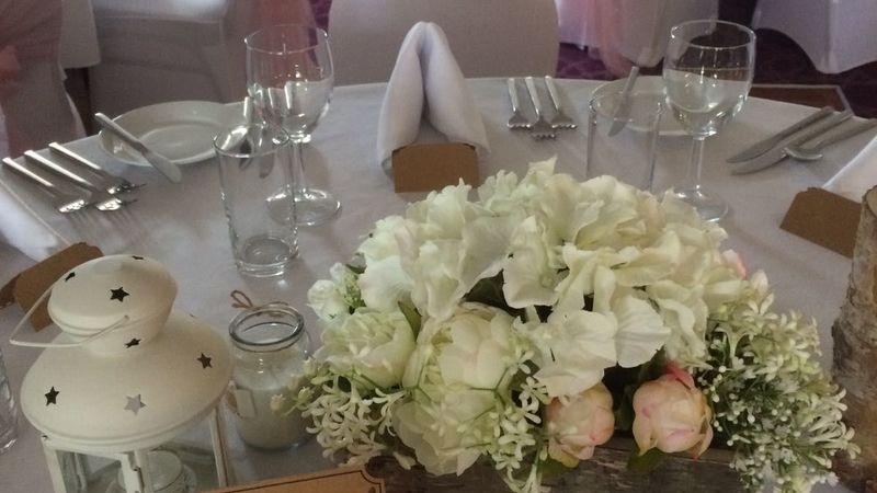 Medium crop wedding setup