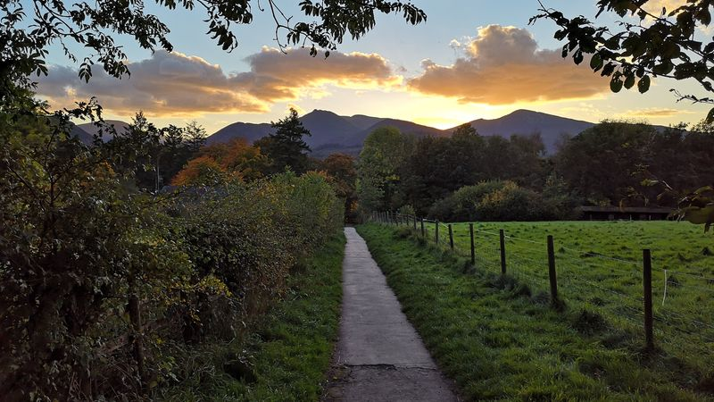 Medium crop causey pike and grisedle pike sunset goodwin house bed   breakfast guesthouse accomodation keswick lake district