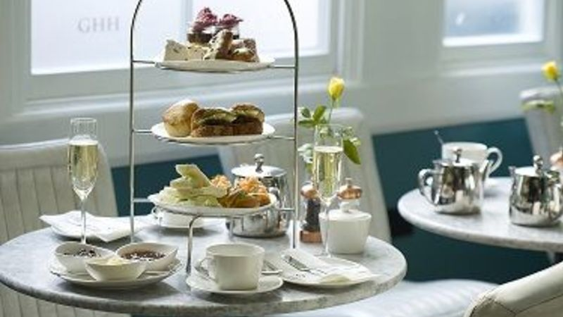 Medium crop afternoon tea stand