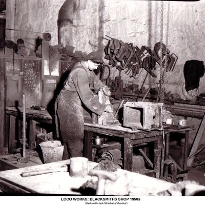Thumb 1 1c b2 loco works blacksmiths  shop 1950s