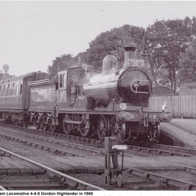 Thumb 1 1c b2 locomotive gordon highlander at inverurie 1960