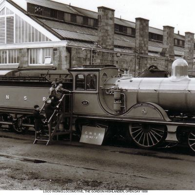Thumb 1 1c b2 locomotive the gordon highlander open day 1958