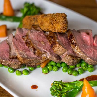 Thumb lamb dish