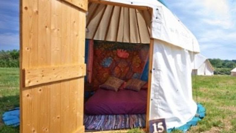 Photograph of 10ft furnished yurt 2 people