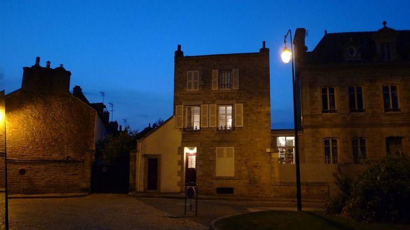 Medium crop the house at night