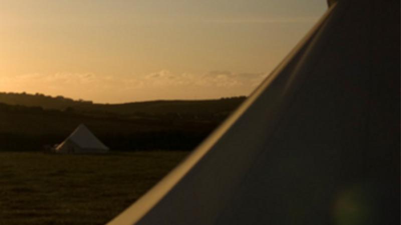 Medium crop classic bell tent