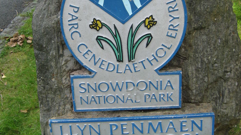 Medium crop snowdonia national park penmaenpool sign