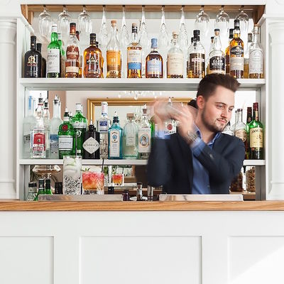 Thumb grant cocktail mixing