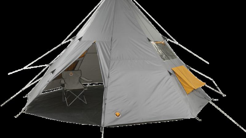 Medium crop camping tent tepee