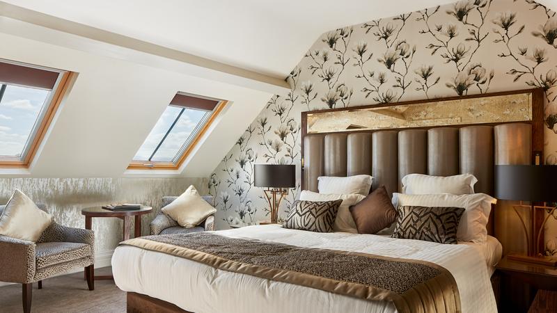 Medium crop executive bedrooms