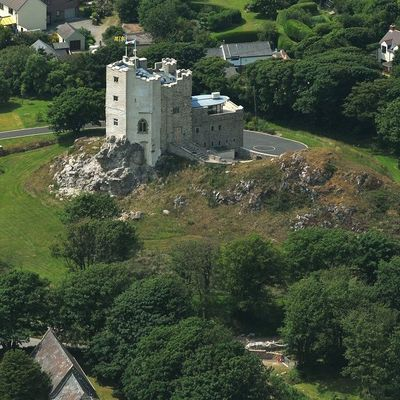Thumb roch castle aerial view