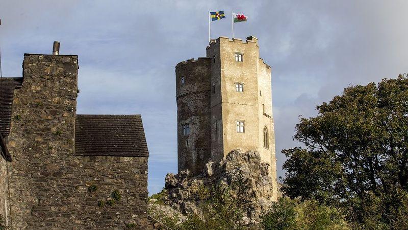 Medium crop roch castle from the village church