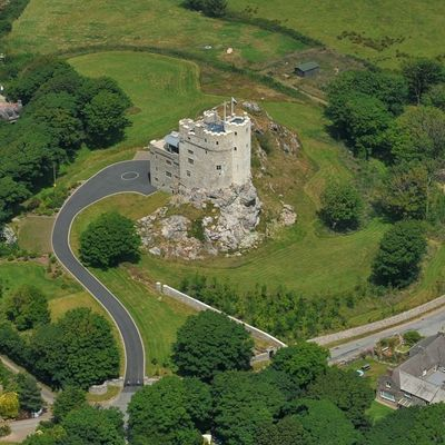 Thumb roch castle grounds aerial