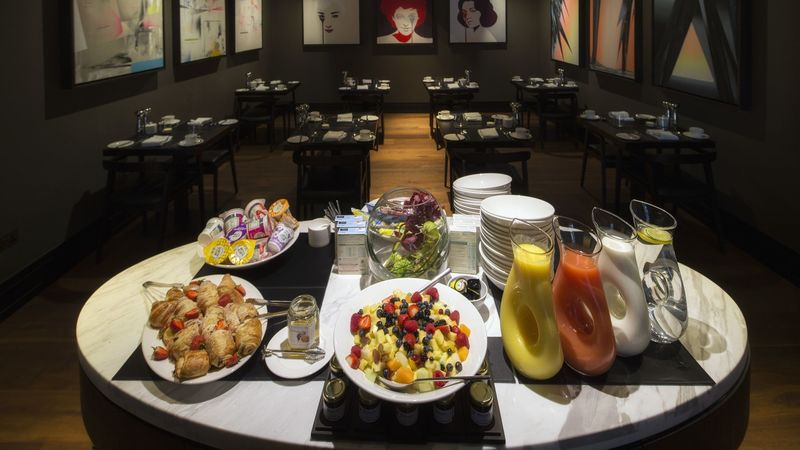 Medium crop twr y felin hotel breakfast buffet at blas restaurant