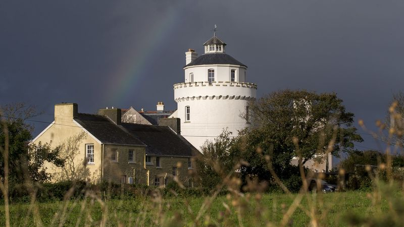 Medium crop twr y felin hotel  windmill  rainbow