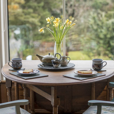 Thumb tea for two at the mount