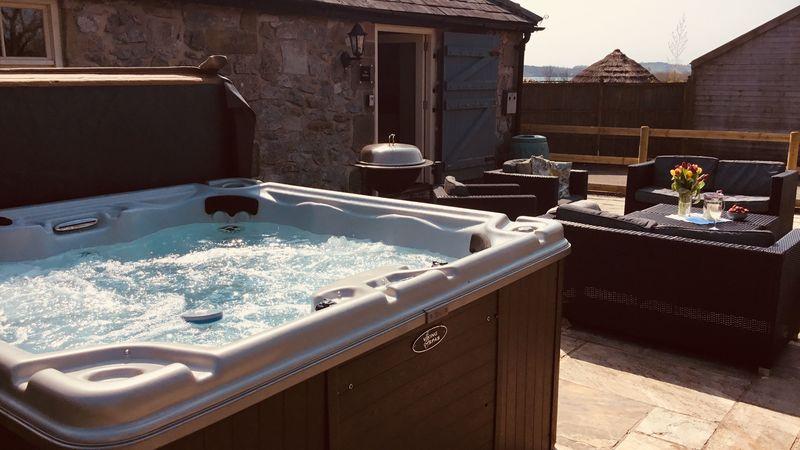 Medium crop stables hot tub