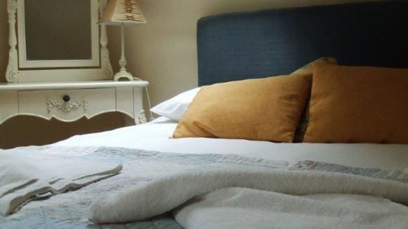 Medium crop blue bedroom
