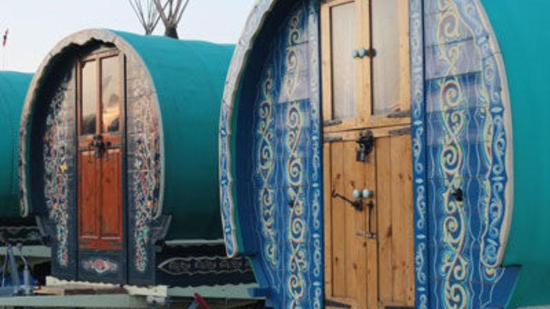 Photograph of Bowtop gypsy Caravan