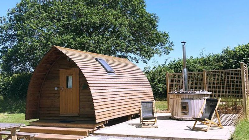Medium crop hillview wigwam and hot tub