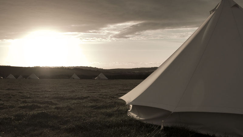 Photograph of CANVAS BELL TENT 5M